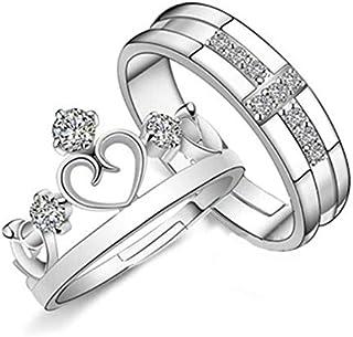 خاتم مجوهرات تاج فتح الأزواج خاتم الرجال والنساء ريترو المنتج البسيط النسخة الكورية
