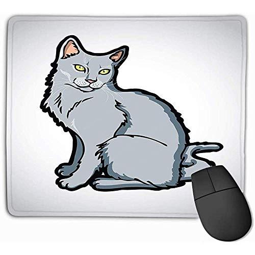 Mausunterlage schönes Russisches blaues Chartreux Korat Katze vecto Rechteck Gummi Mousepad