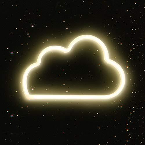 Neon Signs Lichter, LED Neonlicht, Kunst Dekorative Lichter Wanddekor für Baby Zimmer Weihnachtsdekor Hochzeit Studio Party (Wolken-Warmes Weiß)