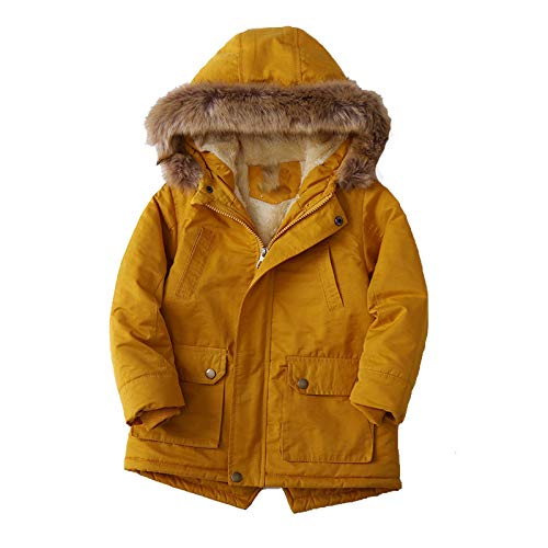 CAIYCAI Baby Girl Denim Jacket Fur Warm Toddler Children'S Winter Girl'S Clothes Baby'S Thickened Coat-As Picture-7