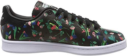 adidas Damen Stan Smith Sneaker, Schwarz (Core Black/Footwear White/Core Black 0), 39 1/3 EU