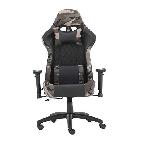 Der Gaming-Stuhl, drehbar, höhenverstellbar, mit Armlehnen, Aames, Büros, Internet-Cafes (Camouflage)
