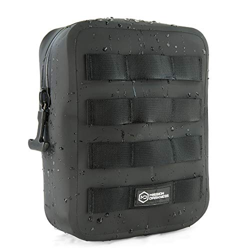Mission Darkness Dry Shield MOLLE Faraday Pouch (2nd Gen) // Waterproof & Submergible Dry Bag + RF Shielding Liner. Signal Blocking, Anti-tracking, EMP Shield, Data Privacy, Electronic Device Security