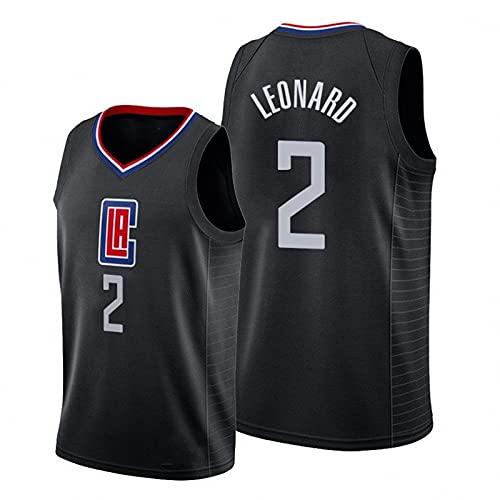 JFIOSD 2021 NBA Hombre Basketball Jersey,Clippers n#2 Leonard Ropa de Baloncesto,Camisetas Al Aire Libre Casual Mujer Redondo CháNdales,G,L
