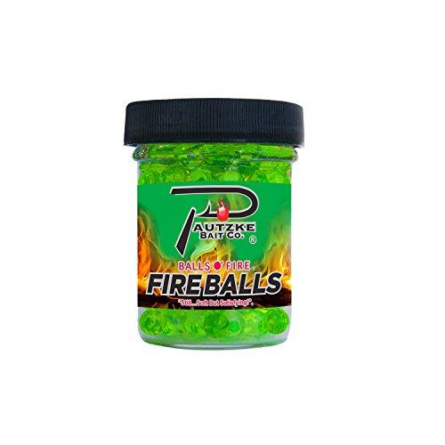 PAUTZKE'S Fishing Bait Fire Balls, Chartreuse/Garlic, 1.65 oz