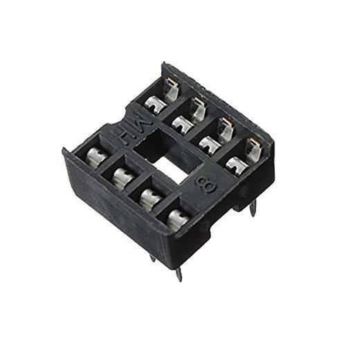 Yongse 10pcs 8 Pin Dip IC Socket Adaptor Solder Tipo Zoccolo Doppio Wipe Contatto