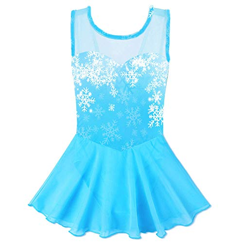 moily Kids Girls Classic Ballet Wrap Skirts with Ribbon Tie Waist Gymnastics Leotard Pull-On Dancewear