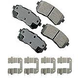 Akebono ACT1398 Proact Ultra Premium Ceramic Disc Brake Pad kit