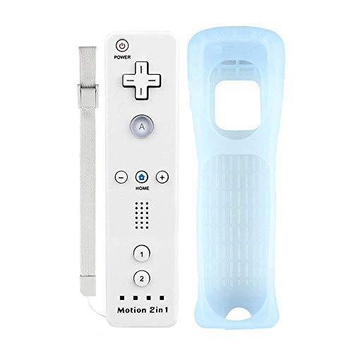 YiYunTE Motion Plus Remote Controller für Wii und Wii U, Wireless Controller Motion Plus Fernbedienung für Wii und Wii U mit Silikonhülle und Armband