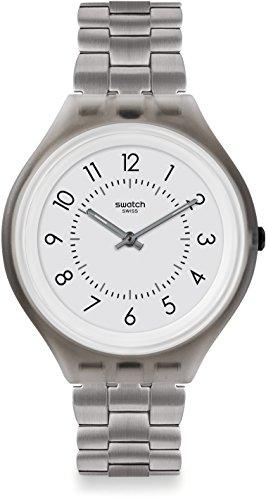 Swatch Orologio Digitale Quarzo Unisex con Cinturino in Acciaio Inox SVUM101G