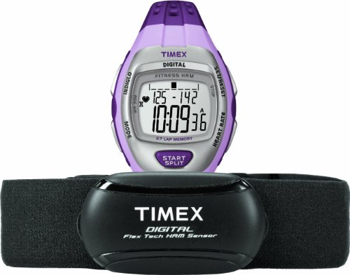 TIMEX Quarzuhr Woman Zone Trainer HRM violett 36 mm