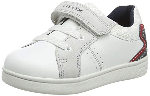 Geox B DJROCK Boy A, Zapatillas Bebé-Niñas, White/Navy, 24 EU