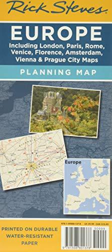 Rick Steves Europe Planning Map: Including London, Paris, Rome, Venice, Florence, Amsterdam, Vienna & Prague City Maps