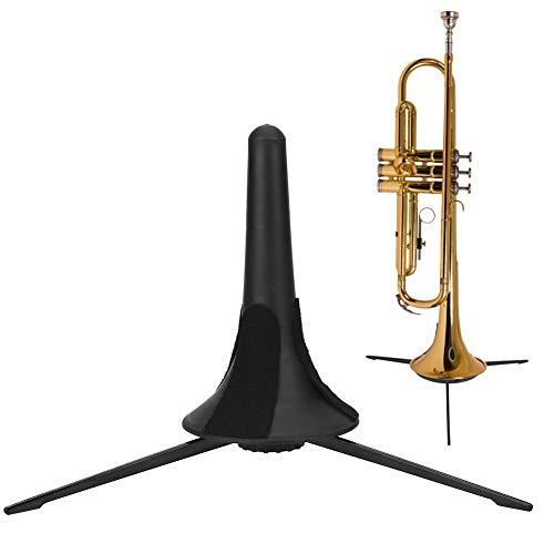Trompetstandaard, draagbaar metaal lichtgewicht statief trompet vouwen stabiel ondersteuning standaard accessoire voor trompetten ingetrokken ontwerp trompet van krassen