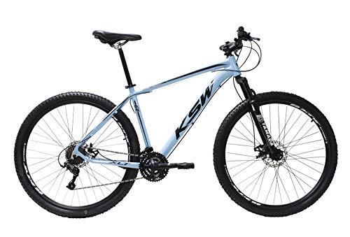 Bicicleta Aro 29 Ksw Aluminio 24 Marchas Freio Hidraúlico (Azul Claro, 15)