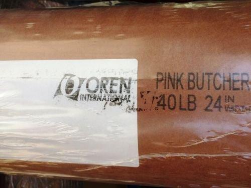 Oren Pink Butcher Paper BBQ Kraftpapier - 20m x 61cm - Das ORIGINAL Butcher Papier aus USA für perfekte Grillergebnisse - Saftiges Fleisch & Knusprige Kruste - Metzger Papier BBQ Zubehör