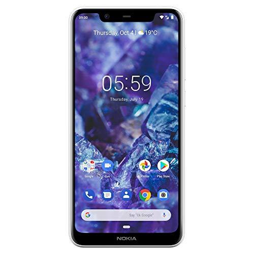 Nokia TA-1112 Mobile 5.1 Plus - Android 9.0 Pie - 32 GB - Dual Camera - Dual Sim Unlocked Smartphone (AT&T/T-Mobile/Metropcs/Cricket/Mint) - 5.86' 19: 9 HD+ Screen - White