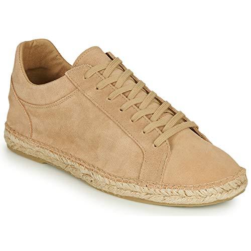 Selected AJO Suede Espadrilles Sneakers Stoffpantoletten/Espandrillos Herren Creme - 41 - Leinen-Pantoletten Mit Gefloch Shoes
