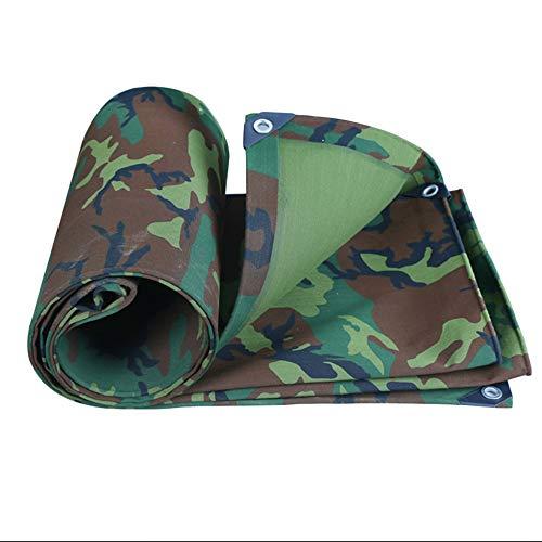 ZZHF Tarpaulin impermeabile Tela Militare Tela Mimetica Addensare Panno Impermeabile Impermeabile Poncho Protezione Solare Tenda Che Copre Il Panno Pioggia, 3 M × 5 M / 4 M × 4 M Tarp impermeabile