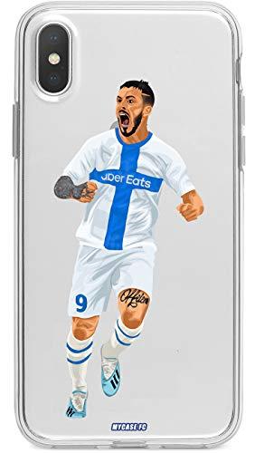 MYCASEFC Coque Juventus Huawei Y7 2019 Foot Personnalisable Silicone nom et num/éro