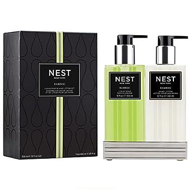 NEST Fragrances Bamboo Liquid Soap & Hand Lotion Set, 10 Fl Oz (Pack of 2), 20