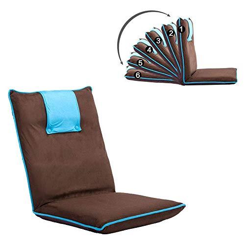 Presidente del Piso Plegable Ajustable Perezoso del sofá del Dormitorio Sofá Plegable Multi-función única Silla Cojín Silla Moderna Sofá Minimalista