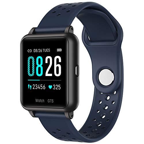 Smartwatch, Fitness Armband Voller Touch Screen IP68 Wasserdicht Uhr Sportuhr, Schrittzähler Pulsuhren Schlafmonitor Fitness Für Android Ios,Dark Blue