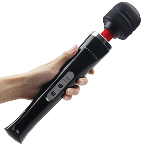 Wand Massager Handheld with 10 Powerful Speeds 8 Vibration Patterns, PALOQUETH Personal Body Massager for Back Neck Shoulder Sore,Cordless Rechargeable