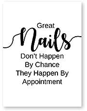 Aya611 Nail Salon Quotes make-up poster voor de muur, poster en prints Nail Tech kunstenaars, cadeau, fashion kunst, picture, canvas, schilderij, nail, schoonheid, decoratie, 50 x 70 cm, zonder lijst