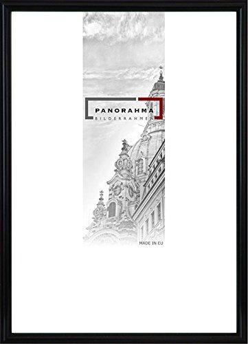 Kunststoff Bilderrahmen, Bildformat: 30 x 40 cm, Schwarz, Echtglas