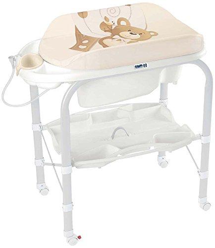 CAM Il Mondo del Bambino C209 Wickeltisch mit Badewanne beige