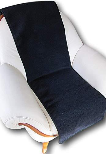 Sesselschoner Couchschoner 1 Stück, 100% Merinowolle 200x50 cm Anthrazit Schwarz