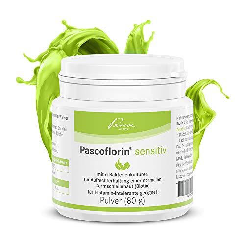 Pascoe® Pascoflorin sensitiv: Nahrungsergänzungsmittel mit Milchsäurebakterien-Kulturen - ohne Histamin-bildende Bakterienstämme - vegan - Made in Germany - 80 g