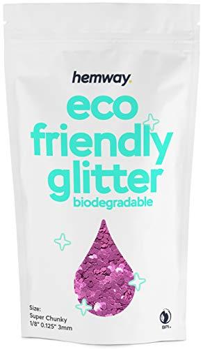Hemway Biodégradable Eco Body Glitter - cosmétique Safe - 100g Super Gros - Lavande