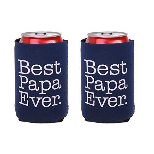 2pcs/Lot Beer Bottle Can Soda Cooler Holder Wedding Party Baby Shower Gift Favor |Item - Best Papa Ever|