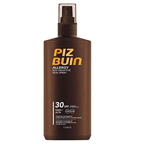Piz Buin Allergy Sun Sensitive Skin Spray LSF 30 High Protection, schnell einziehendes Allergiker Sonnenspray mit Schutzkomplex gegen Hautirritationen (1 x 200 ml)