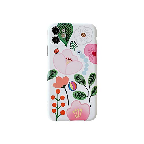 Carcasa para iPhone 11, diseño de flor art, para iPhone 11 Pro XR XS Max X o iPhone 7 8 Plus se 2020, flexible para iPhone X, oro XS