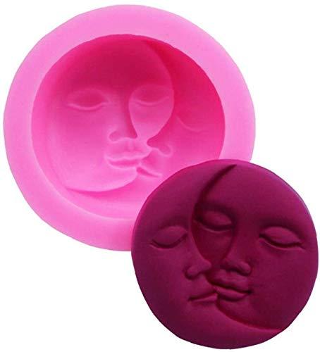 hwljxn Mond Gesicht Silikonform Süßigkeit Schokolade Fondant Seife Dekorieren Topper Backwerkzeug