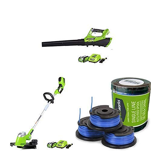 Lowest Price! Greenworks 110 MPH - 390 CFM Cordless Jet Blower, 2.5 AH Battery Included with 40V Cor...