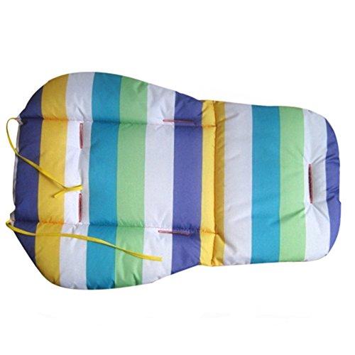 Brussels08 étanche Rainbow bébé enfants de siège de voiture Doublure Coton Rembourrage respirant résistant à l'eau Poussette Poussette Coussin de chaise Pad violet, Taille M