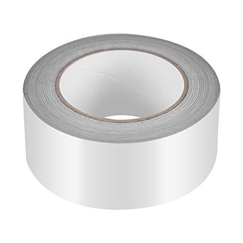 5 cm * 50 m Cinta de papel de aluminio Cinta adhesiva de sellado térmico de plata para aislamiento de reparación de metales en ductos