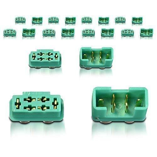 partCore Hochstrom MPX Stecker Buchse mit Lötring 10 Paar