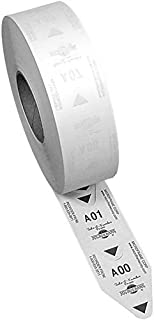 1 roll of 2-Digit Take-A-Number Tickets - 3000 / roll (White)