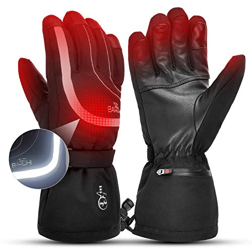 BARCHI HEAT Heated Gloves for Men Women,7.4v 2200mAh Electric Rechargeable Battery Powered Heating Gloves for Skiing Motorcycle Cycling Hiking Hunting Raynaud & Arthritis-L