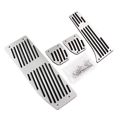 ZHANGJIN Negro Caliente de Aluminio de Plata/aleación Coche Pedales Resto Forma for...