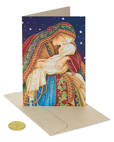 American Greetings Premium Religious Christmas Cards Boxed, Madonna and Child (14-Count)