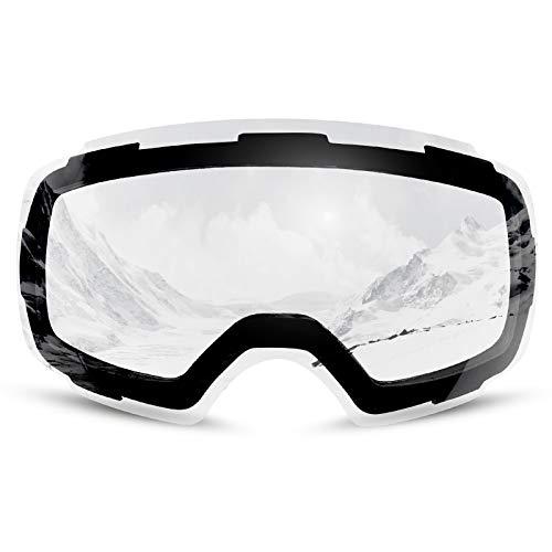 Odoland Skibrille austauschbarer magnetische Linse perfekt Skibrille OTG UV 400 Schutz u. Anti-Beschlag