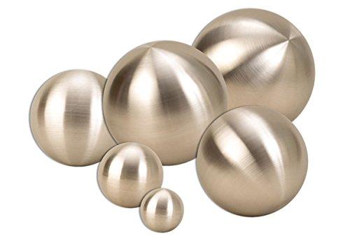 Geschenkestadl 6 er Set Dekokugel in Silber matt ca. Ø 25cm, Ø 20cm, Ø 15cm, Ø 10cm, Ø 6cm und Ø 4cm Edelstahl Kugel Rosenkugel Schwimmkugel Weihnachten