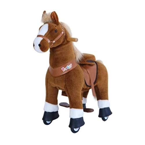 Pony Cycle U324 Ride-On Brown Horse with White Hoof - Small -  PonyCycle