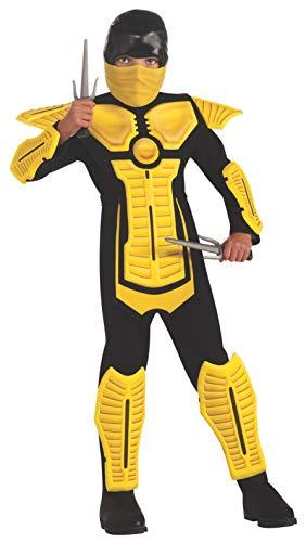 Child's Yellow Ninja Costume, Large
